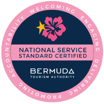 The National Service Standards Certification Seal from the Bermuda Tourism Authority