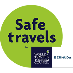 The World Travel and Tourism Council Safe Travels Stamp from the Bermuda Tourism Authority