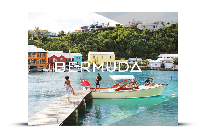 Bermuda Traveller's Guide preview image of woman walking down dock to get on a boat