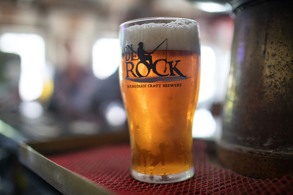A cold pint of beer from North Rock Brewery