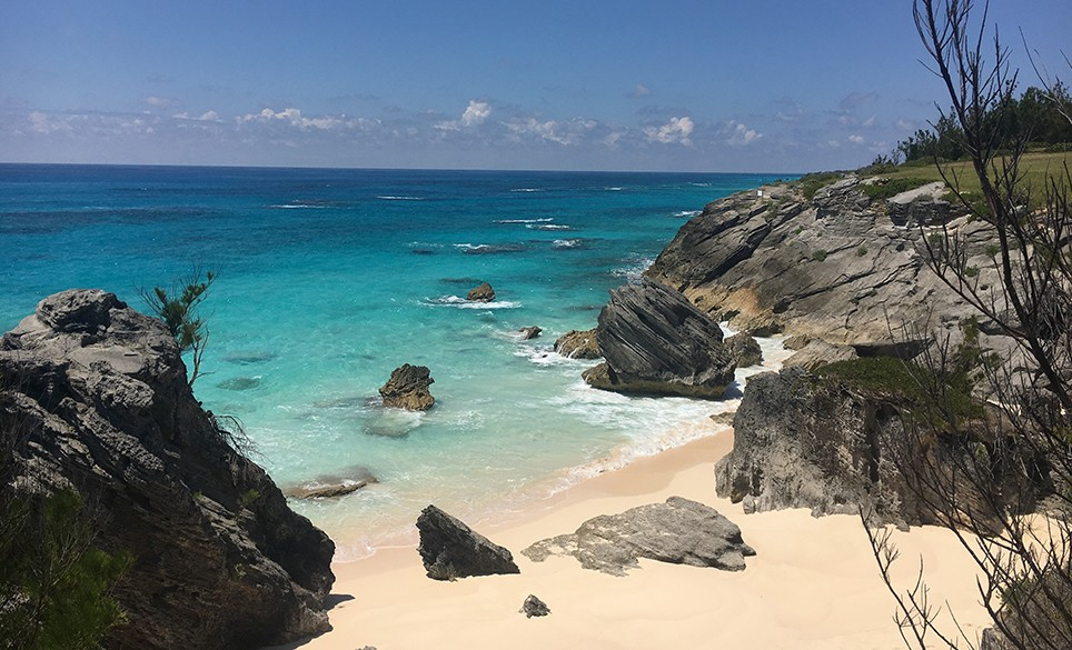 The beach at Astwood Cove, Bermuda