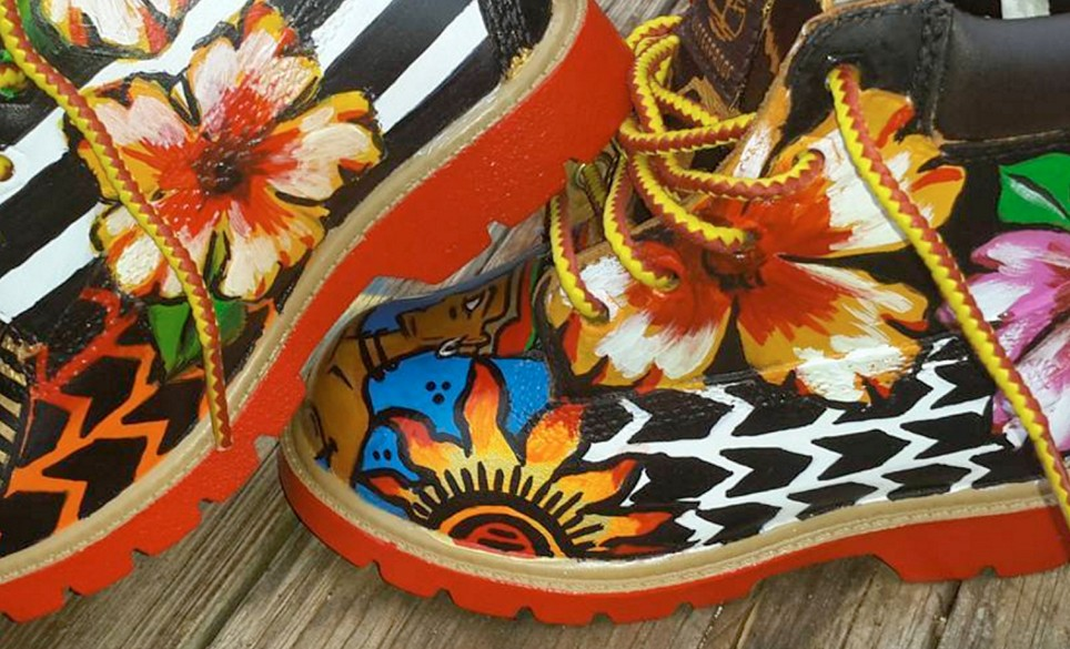 Hand Painted Timberlands® by DBA: Designs by Alshanté
