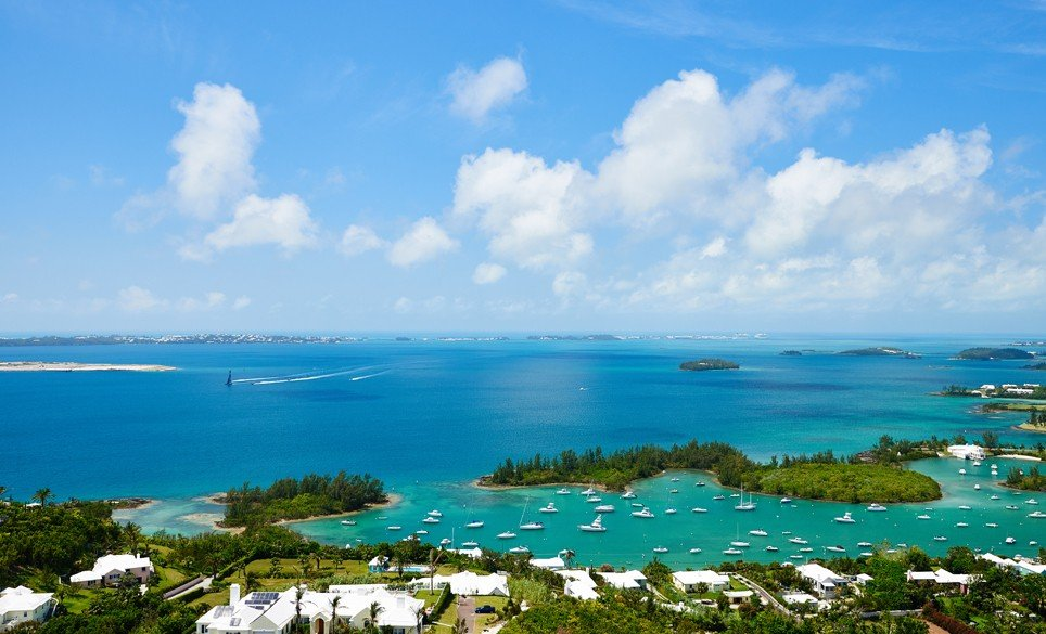 Insipring views of Bermuda from the top of Gibbs Lighthouse.