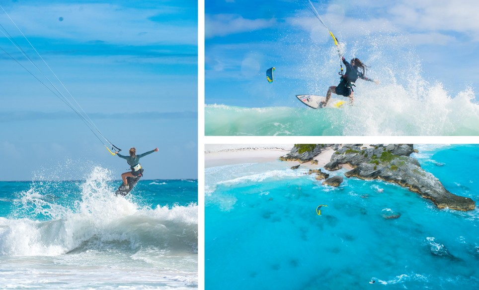 Horseshoe Bay Beach Kiteboarding Collage 2
