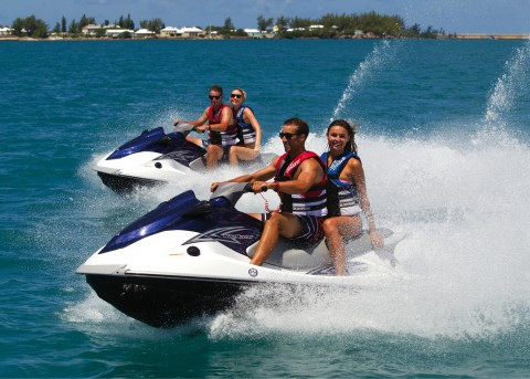 Jet ski tours around Bermuda