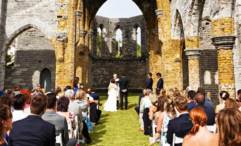 Wedding at Unfinished Church Bermuda