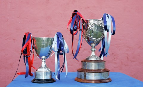 Trophies awarded for the winning Cup Match team in Bermuda