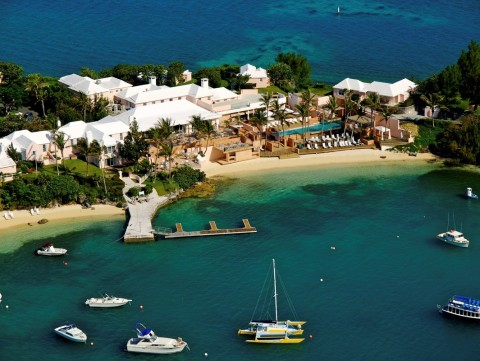 An aerial view of Cambridge Beaches Resort & Spa