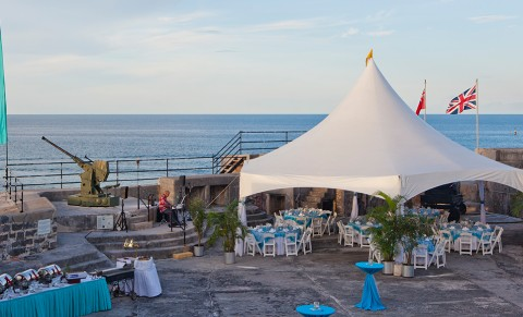 Fort St. Catherine Bermuda Event Tent
