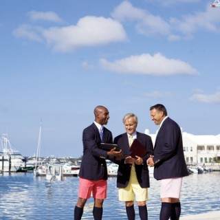 Business Associates in Bermuda Shorts