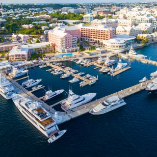 Yachts docked at Bermuda's Hamilton Harbour