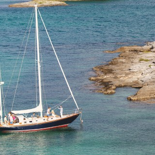 sailboat near the bermuda shore