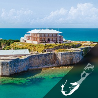 Aerial view of the Royal Naval Dockyard in Bermuda's West End
