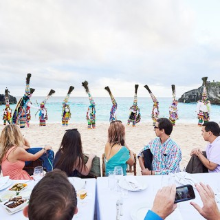 Dinner event on Chaplin Bay