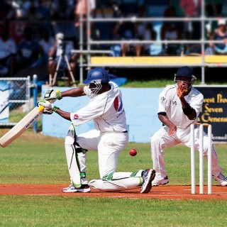 Playing cricket in Bermuda