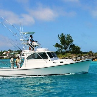 Deep sea fishing on a charter boat in Bermuda