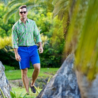 man in bermuda shorts