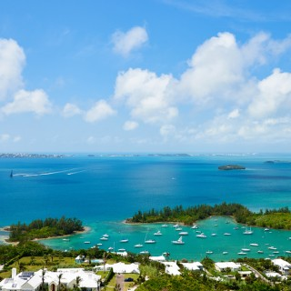 Bermuda's Great Sound from the top of Gibbs Hill Lighthouse