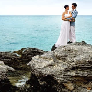 Bermuda Beach Wedding Couple