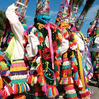 Traditional Gombey dancers