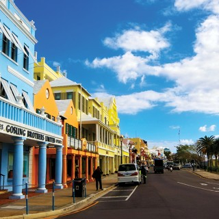 The colourful stores of Front Street
