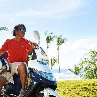 Scooters are just one of the ways to get around Bermuda