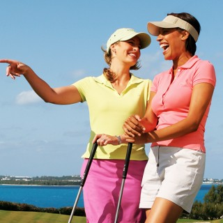 Golfing with the girls in Bermuda