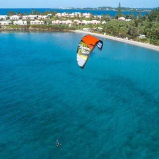 Kiteboarding on water in Bermuda