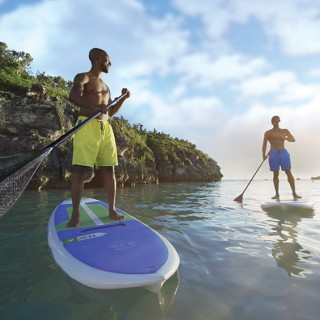 The best view of Bermuda is from the water on paddleboards
