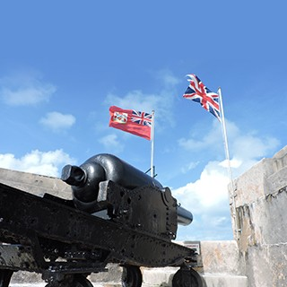 Bermuda's Historical Cannons at Fort St. Catherine.