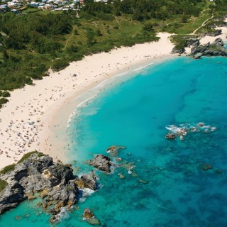 Horseshoe Bay Beach aerial