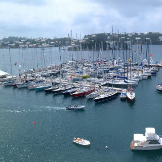 boats docked at a bermuda marina