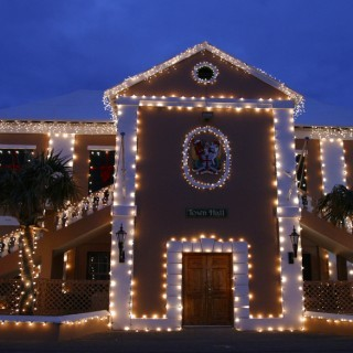 Townhall in Town of St. George at Christmas