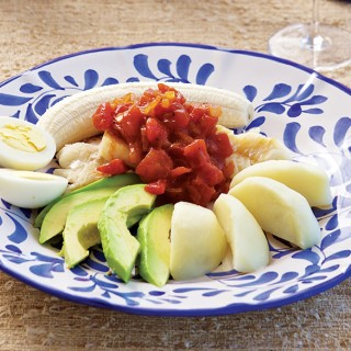 The traditional Bermuda Breakfast includes codfish, potatoes, bananas and avocados