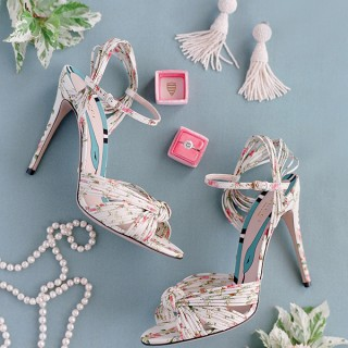 Flatlay photograph of wedding related items