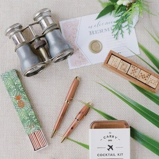 Flatlay photograph of travel related items