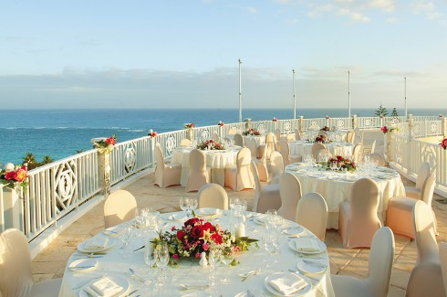 Elbow Beach balcony, perfect for events of all sizes in Bermuda