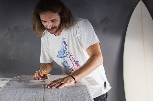 Cullen O'Hara, owner of Isolated Surfboards in Bermuda