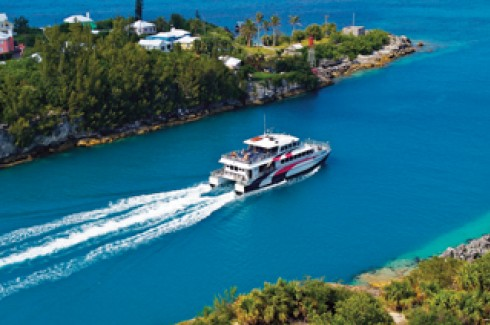A ferry in Bermuda.