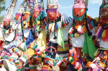 Gombey Dancers in Bermuda