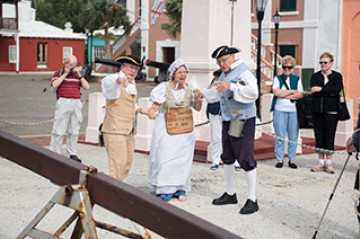 REENACTMENT IN ST. GEORGE'S