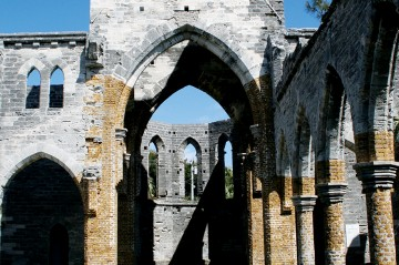 Inside the Unfinished Church in St. George, Bermuda