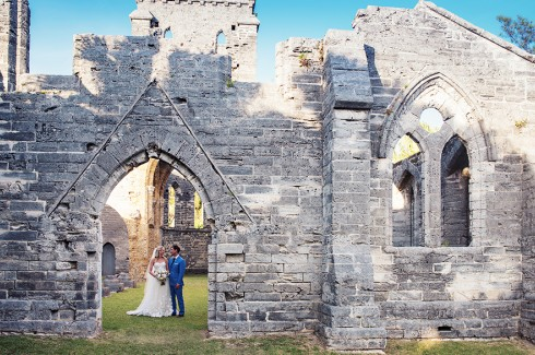 The Unfinished Church in Bermuda is the perfect background for any wedding