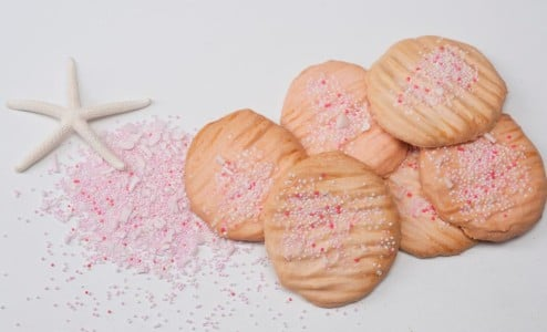 Confections Pink Sand Sugar Cookie