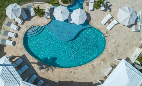 Outdoor Pool - Over view of outdoor pool.