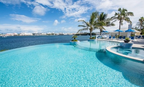 Newstead infinity pool overlooking Bermuda's Great Sound