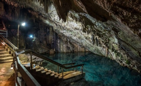 Swimming cave