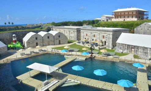 Dolphin Quest Location - These natural tidal ocean lagoons sheltered within the National Museum of Bermuda is home to Dolphin Quest. This 19th century Victorian era British fort was re-purposed to house the island's maritime and cultural heritage...