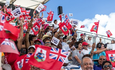 The crowds roar during America's Cup in 2017