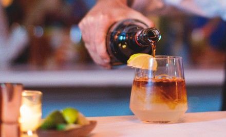 A Dark 'N Stormy, served with Gosling's® Dark Rum in Bermuda